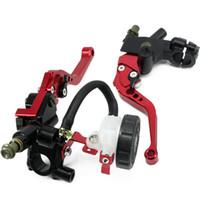 Wholesale clutch brake lever universal resale online - Universal mm Front Brake Clutch Master Cylinder Reservoir Levers