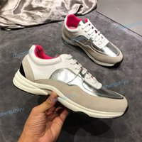 Wholesale tennis shoes brand for sale - New Luxury France Brand Suede Leather Casual Shoes Women Designer Sneakers Genuine Fashion Mixed Tennis Color Sneaker Shoe With Box