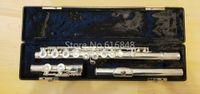 качественные флейты оптовых-Gemeinhardt 3os посеребренные флейта высокое качество C Tune 16 ключей отверстия открыть Мельхиор флейты инструмент с делом Бесплатная доставка