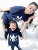 t-shirts pour bébé achat en gros de-20190013 Nouvelle marque de marque 2-9 ans Bébés garçons filles T-shirts 2019 été chemise Tops coton enfants Tees enfants Vêtements 2 couleurs