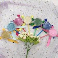 étiquette d'expédition personnalisée achat en gros de-Emballage coloré Lollipop Lash Box sans cils À la main Bâton Emballage Marque Privée Livraison Gratuite Emballage Personnalisé pour 25mm Lahses