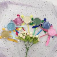 ingrosso etichetta di spedizione personalizzata-Scatola per ciglia colorate Lollipop senza ciglia Imballaggio fatto a mano con etichetta privata Spedizione gratuita Imballaggio personalizzato per 25mm Lahses