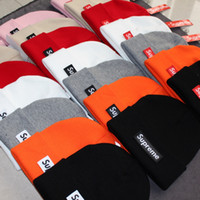 Wholesale easter hats for adults resale online - Hat SUP Letter True Casual Beanies for Men Women Warm Knitted Winter Hat Fashion Solid Hip hop Beanie Hat Unisex Cap HOMMES CAP FEMMES