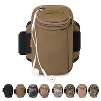nylonarmabdeckungen großhandel-Laufen Arm Packs Arme Gürtel Abdeckung Multifunktionale Camouflage Smart Phone Bag Camping Ausrüstung Outdoor Fitness Tasche ZZA1039