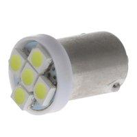 grün 1157 birne großhandel-BA9S 1210 5SMD 3528 Chips Auto LED Innenlampe Armaturenbrett Glühbirne 12 V DC Auto Lampen