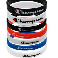 armband silikon armband sport großhandel-Champions Letters Armband Silikon Sport Armband CHAMPI Designer Gummi Armband Liebhaber Kreatives Geschenk Jungen Basketball Armband newB5703