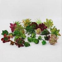 flores artificiales bonsai al por mayor-Las plantas artificiales nuevo diseño con el florero Bonsai Tropical Cactus en maceta Planta carnosa falso Ministerio del Interior decorativo Tiesto