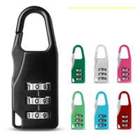 fechaduras de combinação para bagagem venda por atacado-7 estilos 3 Mini Dial Digit lock Código Numérico Senha Cadeado de Combinação de Segurança de Viagem de Bloqueio Seguro para Cadeado Bagagem Fechadura de Ginásio FFA2321