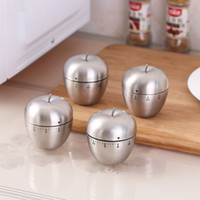 Wholesale stainless steel kitchen appliances resale online - Stainless Steel Timer Two Kitchen Egg shaped Mechanical Timer Kitchen Stainless Steel Apple Timer Kitchen Appliances T3I5316