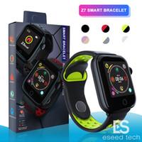 смартфон ip68 оптовых-Z7 Smart Watch фитнес-трекер Браслет пульса SmartWatch Монитор IP68 Водонепроницаемый Шаг для яблочных часов PK DZ09 IOS Android смартфон