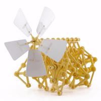 kits de montage de bricolage achat en gros de-Créature Puzzle Vent Motorisé DIY Walker Strandbeest Assemblée DIY Modèle Kits Jouet Environnementale Jouets Éducatifs Cadeau