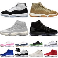 Wholesale pink fashion gowns resale online - Olive Lux Blue Mens Shoes New Fashion Snakeskin Space Jam Cap and Gown Bred Concord s Platinum Tint Womens Sneakers