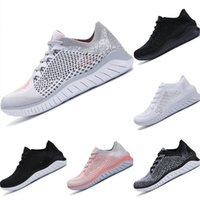 Wholesale breathable barefoot shoes resale online - 2019 Free RN Fly Wire Barefoot Woman Breathable Bowling Shoes Free Fly Wire EVA Cushioning Sports Shoes