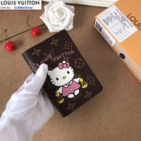 Wholesale phone document for sale - Group buy M60180 Travel document set WOMEN REAL LEATHER Long Wallets Chain Wallet Pouches Key Card Holders Phone Cases PURSE CLUTCHES