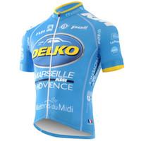 maillot cycliste manches courtes vente achat en gros de-Delko team NOUVELLE vente chaude Cyclisme Manches Courtes Maillot Respirant Séchage Rapide Confortable En Plein Air X71035