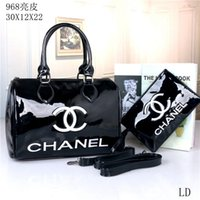 Wholesale ladies burgundy clutch bags resale online - Hot Sell Newest Style Women Messenger Bag Totes bags Lady Composite Bag Shoulder Handbag Bags Pures034