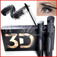 ingrosso 3d doppio mascara impermeabile-3D in fibra Lashes Mascara impermeabile doppio 1030 versione 3D FIBRA frusta il trucco del ciglio di 1set = 2pcs