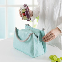 Wholesale insulated travel bags resale online - Portable Insulated Lunch Bag With Handle Waterproof Food Bento Bags For Outdoor Travel Picnic Containers Durable ym WW