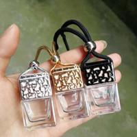 uçucu yağ difüzör şişeleri toptan satış-Parfüm şişesi Küp Araba Asılı Parfüm Süs Hava Spreyi Uçucu Yağlar Difüzör Parfüm Boş Cam Şişe 8 ml