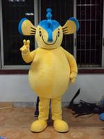 desenhos animados do hipocampo venda por atacado-Azul amarelo cavalo marinho mascote trajes tema animado hipocampo Cospaly mascote dos desenhos animados caráter traje do partido do carnaval de Halloween