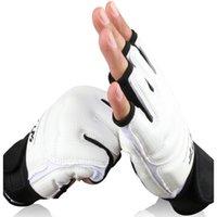 engrenagens das artes marciais venda por atacado-Taekwondo Equipamentos WTF ITF Judo Wesing Martial Arts Luvas Pés tornozelo Protector palma da Guarda Boxe Karate crianças Gear Set