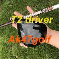 eje de calidad al por mayor-2019 calidad OEM conductor T2 Nuevo controlador de golf 9.5 o 10.5 grados con grafito Tourad IZ6 eje rígido clubes llave de cubierta para la cabeza de golf