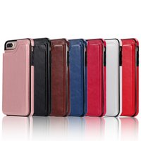 Wholesale crazy cell phone cases for sale – best For IPhone Classic Crazy Horse Material Opens the Cell Shell Left and Right Plug in Card Multi function Full Edge Mobile Phone Cover