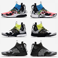 Wholesale women brand low shoes for sale - Brand New ACRONYM Presto Mid V2 Designer Shoes Camouflage Graffiti Men Women Running Shoes Racer Pink Cool Grey Darts Sneakers Size
