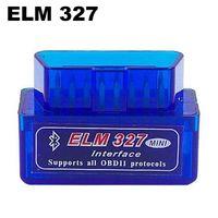 bluetooth otomatik tanılama toptan satış-Süper MINI ELM 327 Bluetooth Arabirim Oto Araba Tarayıcı Teşhis Tarayıcı Araba Automotivo Escaner Automotriz için Mini V2.1 ELM327 OBD2