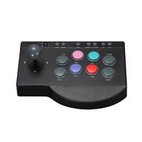 joystick kampfspiele großhandel-Joystick USB Wired Stick Nützlicher ABS Game Controller für Arcade Fighting PC Praktischer Button Ersatz / 4 ONE