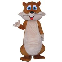 Wholesale christmas cartoon mascot online – ideas Halloween Fat Squirrel Mascot Costume Top Quality Cartoon Big tail squirrel Animal Anime theme character Christmas Carnival Party Costume