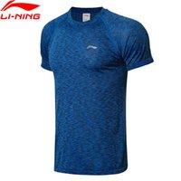 camisetas deportivas de poliéster al por mayor-Hombres Running Camisetas Poliéster transpirable Slim Fit LiNing Sports Tee Tops Camisetas ATSN187 MTS2866
