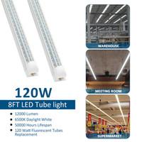 Wholesale led shop lights for sale - Group buy 20pcs ft Super Bright LED Shop Light W Integrated Fixture Led Light Tube feet Triple Rows Linkable Tube Lights for Garage Warehouse