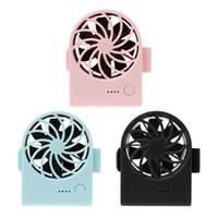soğutucu fan motoru toptan satış-USB Mini Fan Şarj Edilebilir Klip Fan Fırçasız Motor Soğutucu Asılı Bel Ventilatör Ev için 3 Hızları Ayarlanabilir Açık