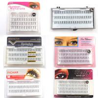 enxertar cílios venda por atacado-Mink Enxertar Cílios Falsos Cílios Extensões Cílios Postiços Onda Natural Enxertos Cílios Lashes Maquiagem Ferramentas LJJR924