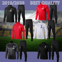 Wholesale football training kits for sale - Group buy 2019 new Kids TRAINING SUIT kit soccer uniform best quality customize childen football tracksuit long Zipper jacket TRAINING SUIT