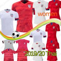 weibliche fußball-uniformen großhandel-Thailändischer Weltcup America Soccer Jersey CHAMPIONS Heim Auswärtstrikot USA Damen 4 Sterne LLOYD RAPINOE KRIEGER Fußball Uniform Damen Herren