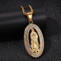 ingrosso collane vergini mary-Collana a forma di ciondolo con pendente in argento dorato con gemme e pendente a forma di cuore in argento con gemme e pendente