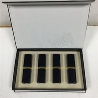 Wholesale free shipping black lipsticks resale online - Popular Famous brand Makeup Matte lipstick color black tube matte lipstick set