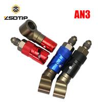Wholesale hose connecting resale online - ZSDTRP AN3 CNC Aluminum Brake Line Fluid Quick Release Connect Fitting Adapter Kit Quick disconnect fittings Hose Adapter
