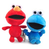 Wholesale elmo toys resale online - Top New Styles quot CM Kids Sesame Street Elmo Cookie Monster Plush Doll Children Anime Collectible Soft Dolls Best Gifts Stuffed Toys