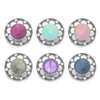 Wholesale w387 Flower 3D 18mm 25mm 30mm Metal Snap Button For Bracelet Necklace Interchangeable Jewelry Women Accessorie Findings