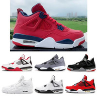 Wholesale pale green lace resale online - 2019 New s SE FIBA Gym Red Bred Pure Money Men Basketball Shoes White Cement Fire Red Pale Citron Sneakers With Box