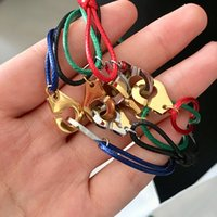 Wholesale gold chain price for women for sale - Group buy Gold silver colors Price France Famous Brand Jewelry Bracelet For Women Fashion Jewelry L Stainless Steel Rope Handcuff Bracelet Menottes