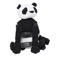 çocuklar dizginleri toptan satış-Panda Emniyet Kemeri Tasma Kayışı Bebek Çocuk Yürüyor Yürüyüş Cosplay Sırt Çantası Reins Çantası