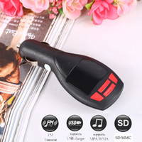 Wholesale bluetooth auto lcd resale online - Wireless MP3 Player Auto FM Transmitter handsfree Bluetooth Modulator LCD Car Kit USB Charger SD MMC Accessories
