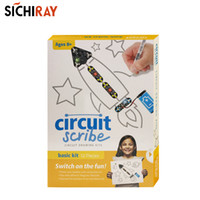 Wholesale electric circuit toys for sale - Group buy Circuit scribe basic kit conductive Ink pen DIY drawing circuit on paper with electric ink children educational toys