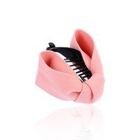 tissu en griffe achat en gros de-Tissu Arc De Cheveux Griffe Élégantes Femmes Cravates En Tissu Solide Pinces De Crabe De Cheveux De Banane Queue De Cheval Tenir Accessoires Fille