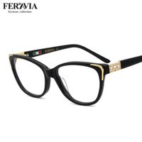 Wholesale vogue eyewear for sale - Group buy Women Brand quality Eyewear Vogue Design Non Prescription Frames With Rhinestone three color for choice