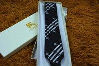 gömlek ipliği toptan satış-Yüksek kaliteli ipek iplik boyalı jakarlı kravat erkek takım elbise gömlek moda kravat ambalaj kutusu